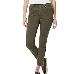 Olive Green Skinny Ankle Pants